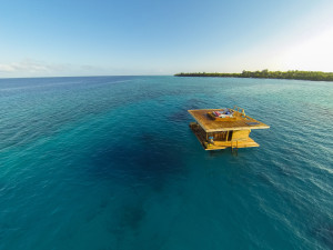 The Manta Resort House from high